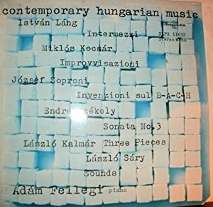 - Contemporary Hungarian Music. Music of Istvan Lang