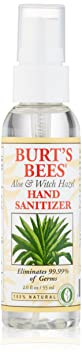 Отзывы Burt's Bees Hand Sanitizer, Aloe and Witch Hazel, 2 Ounce Bottle
