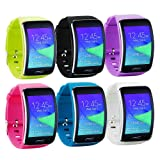 Tkasing Samsung Galaxy Gear S R750 Smart Watch Replacement Wristband Bracelet/Free Size Wireless Smartwatch Accessory Band Strap With Secure Buckle (A) (Color: A)