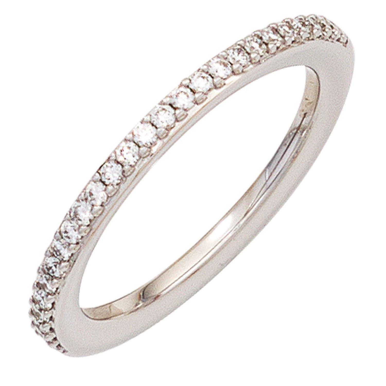 Damen Ring 585 Weißgold 26 Diamanten Brillanten 0,21ct. günstig kaufen