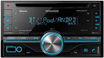 JVC Kenwood DPX306BT Autoradio CD USB avec Bluetooth Noir