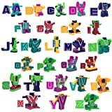 Wemfg 26 Pieces Alphabet Robot Toy Transforming Action Figure Autobots Toys for Kids ABC Learning, Birthday Party, School Classroom Rewards, Carnival Prizes, Pre-School Education Toy