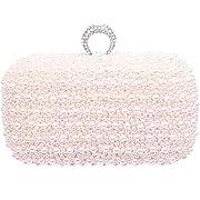 Fawziya Ring Hard Case Pearl Evening Bag