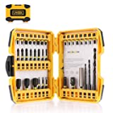 Impact Driver Bit Set, Utool 36pcs Impact Screwdri and Drill Bits Mixed Set Including 27 Screwdriver Bits, 3 HSS Twist Drill Bits, 3 Magnetic Nut Driv