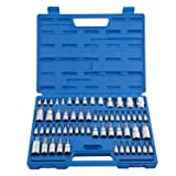 Neiko 10083A Master Torx Bit Socket and External Torx Socket Set | 60-Piece Set | S2 and Cr-V Steel (Color: CLEAR)