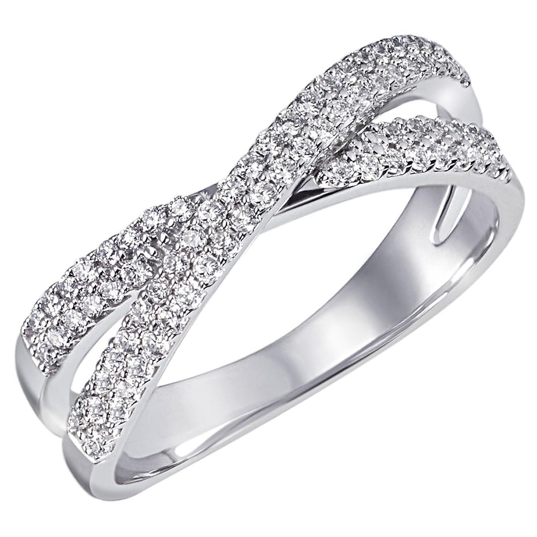Goldmaid Damen-Ring Pavee Kreuz 585 Weißgold 75 Diamanten 0,40 ct. Pa R4751WG günstig online kaufen
