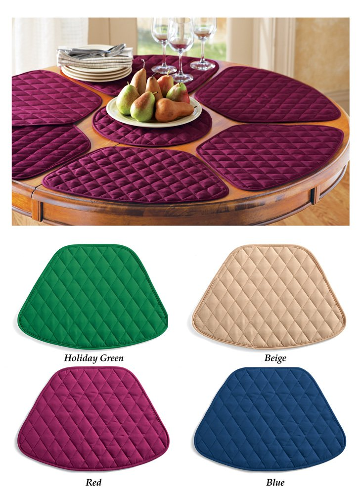 7 piece kitchen dining room round table placemats with centerpiece place mat set ebay - Dining room table mats ...