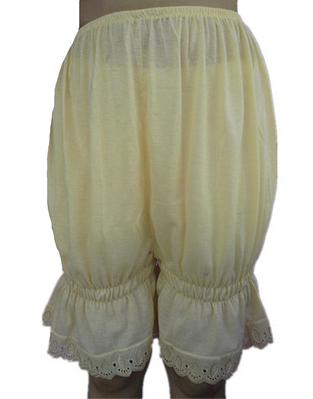 Frauen Handgefertigt Halb Slips UL2CIV IVORY Half Slips Cotton Women Pettipants Lace