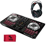 Pioneer DJ DDJ-SB3-2-Channel Serato DJ Controller w/PitbullAudio cleaning cloth and Master Monitoring Headphones