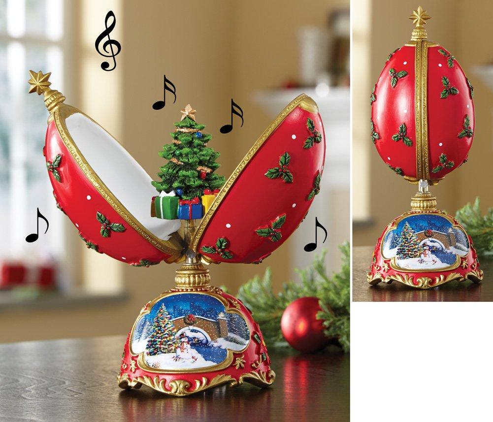 Collectible Christmas Tree Musical Egg Figurine