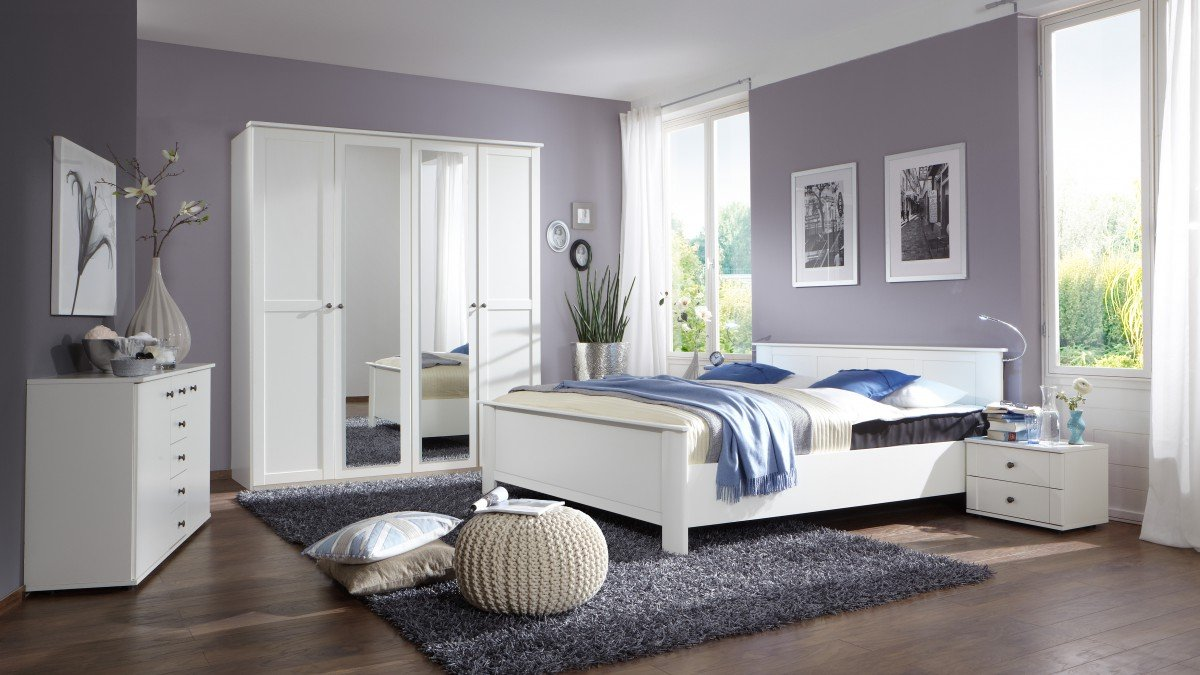 Dreams4Home Schlafzimmerkombination 'Charme II', Schlafzimmer, Schlafzimmer komplett, Schlafzimmer Set, Farbe:Weiß online kaufen