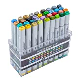 Finecolour Studio Double Ended Art Markers for Illustrations and Art Projects (36 Colours) (Color: 36 Colours, Tamaño: 36 colors)