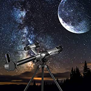 OUTLIFE Telescope for Kids, Astronomical Refracter Science Telescope with Tripod 3 Eyepieces,Travel Scope Exploration Toys for Childdren & Beginners (