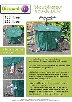 cuve recuperateur eau eau de pluie 250l jardin m271. Black Bedroom Furniture Sets. Home Design Ideas