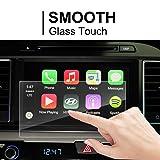LFOTPP Hyundai Santa Fe / Tucson /Azera / Elantra 2017 8-Inch Glass Car Navigation Screen Protector, [9H] Tempered Glass Center Touch Screen Protector Anti Scratch High Clarity