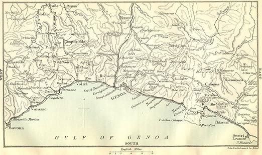 Sestri Levante Italy Map Sestri Levante 1888 Map