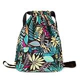 XMRSOY Gym Bag Drawstring Backpack Water Resistant Nylon String Cinch Bag Large Sackpack (Color: 4, Tamaño: Large)