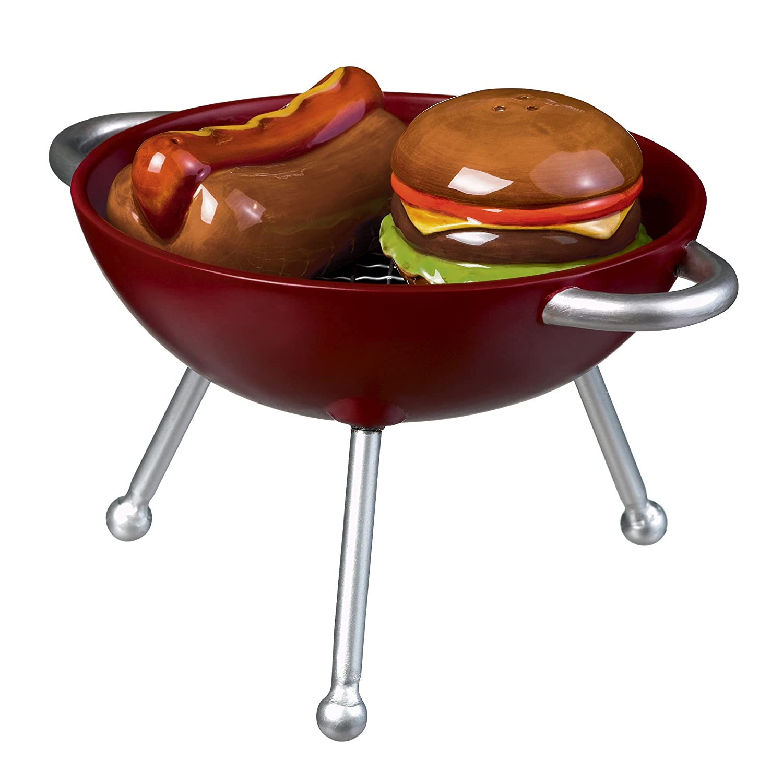 Grasslands Road 2-Pack Hamburger and Hotdog on a Grill Salt and Pepper Shaker Set
