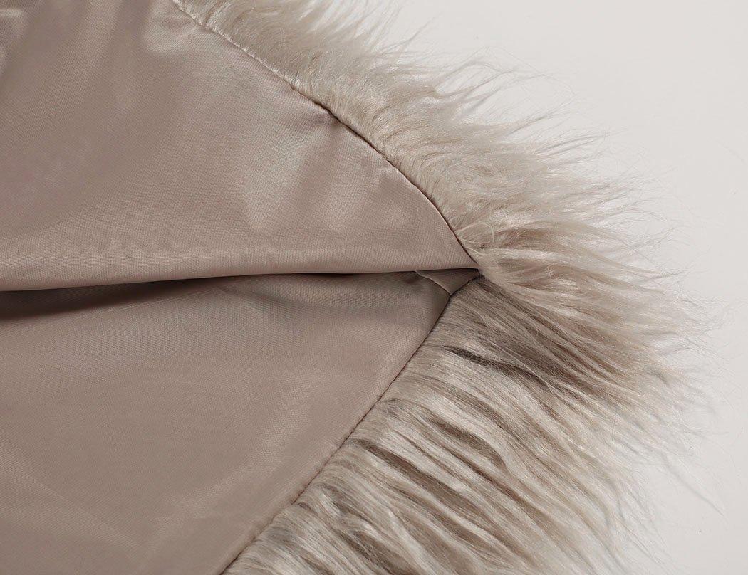 Naggoo Women's Fluffy Faux Fur Coat Winter Long Sleeve Warm Outerwear 5