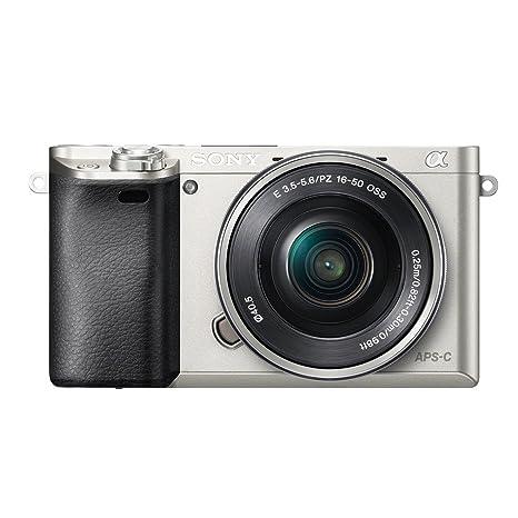 """Sony A6000 ILCE6000LS.CEC Kit Compact numérique hybride 3"""" (7,62 cm) 24,3 Mpix Zoom optique 3x Wi-Fi/HDMI/USB Argent + Objectif 16-50 mm rétractable"""