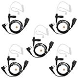 abcGoodefg FBI Style SURVEILLANCE Covert Headset Earpiece Mic For HYT (Hytera) Radios motorola radioa CLS1110 CLS1410 CLS1413 CLS1450 CLS1450C CP200 PR400 CP100 TC-500 (5 PACK) (Color: 5 PACK)