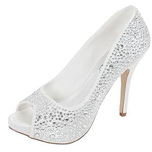 Perfect chaussures de mariage femme Sarah   l'examen des produits de plus amples informations