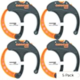 Cable Cuff PRO (4 Pack: 4x Large 3 Inch Diameter) Adjustable, Reusable, Cable Tie Replacements for Extension Cords or Electronics (Pack 5) (Tamaño: Pack 5)