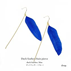 drop.フェザーピアス(ブルー)