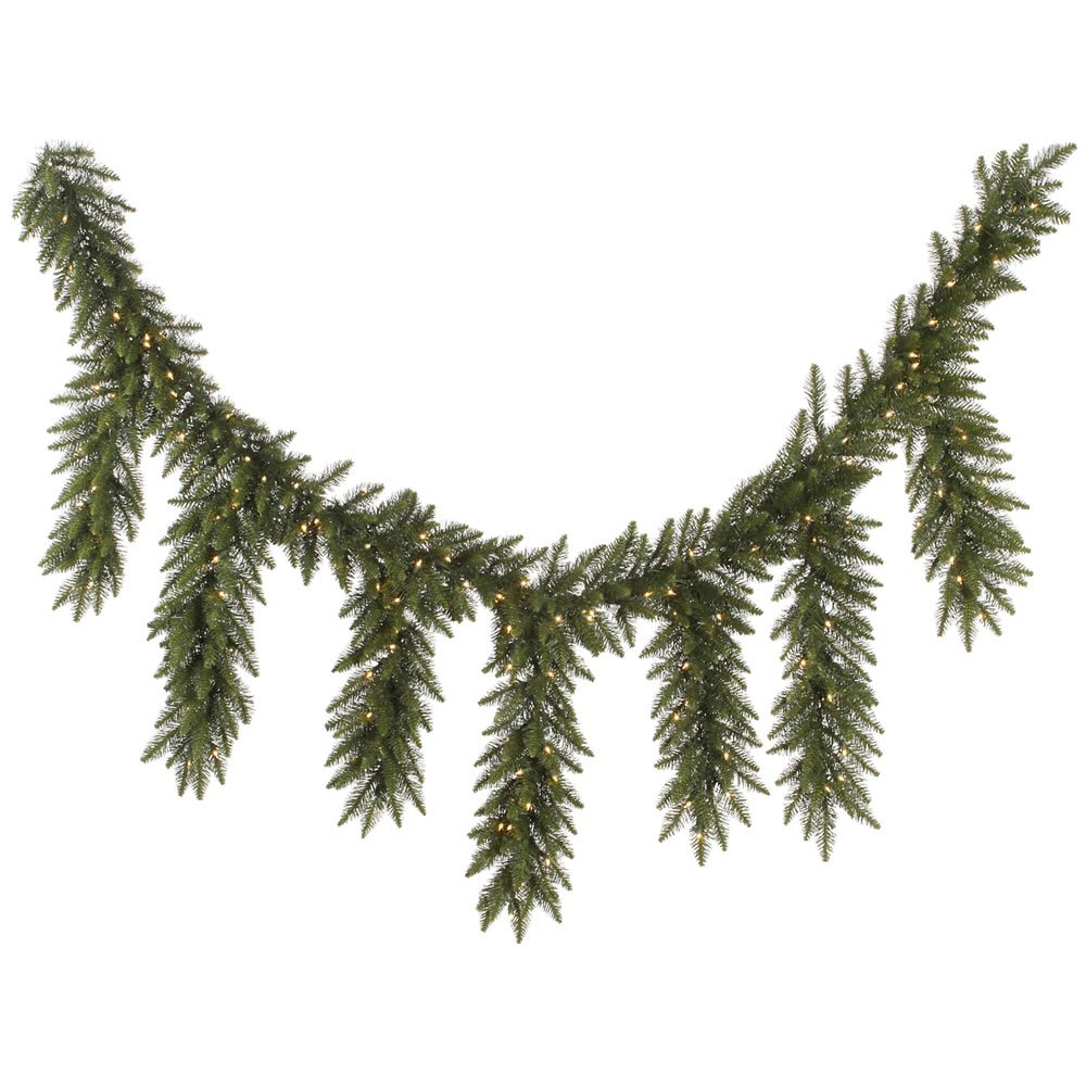 9' x 12 Pre-Lit Camdon Fir Artificial Icicle Christmas Garland