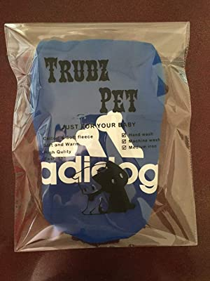 Trudz Pet Large Dog Hoodies, Rdc Pet Apparel, Fleece Adidog Basic Hoodie Sweater, Cotton Jacket Sweat Shirt Coat from 3XL to 9XL (Color: Blue, Tamaño: 3XL)