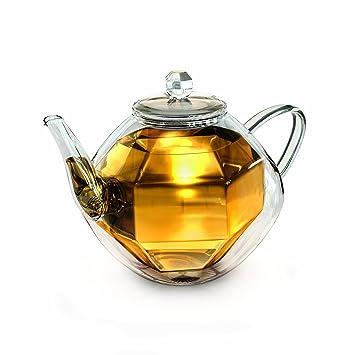 Edelstahl Optik Kaffeekanne ROT 2,0l Teekanne unisoliert Getränk