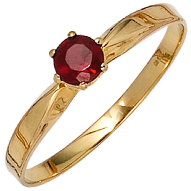 Damen-Ring 585 Gelbgold 1 Granat jetzt kaufen