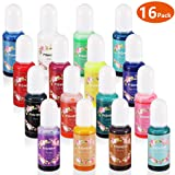 Epoxy Resin Pigment- 16 Color Liquid Resin Dye for Color Art- AB Resin Coloring for Jewelry DIY Crafts Art Making (Color: resin pigment)