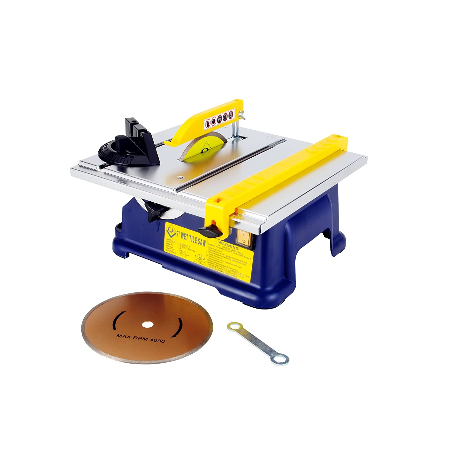 QEP 60087 7-Inch Tile Saw with Water Cooling System