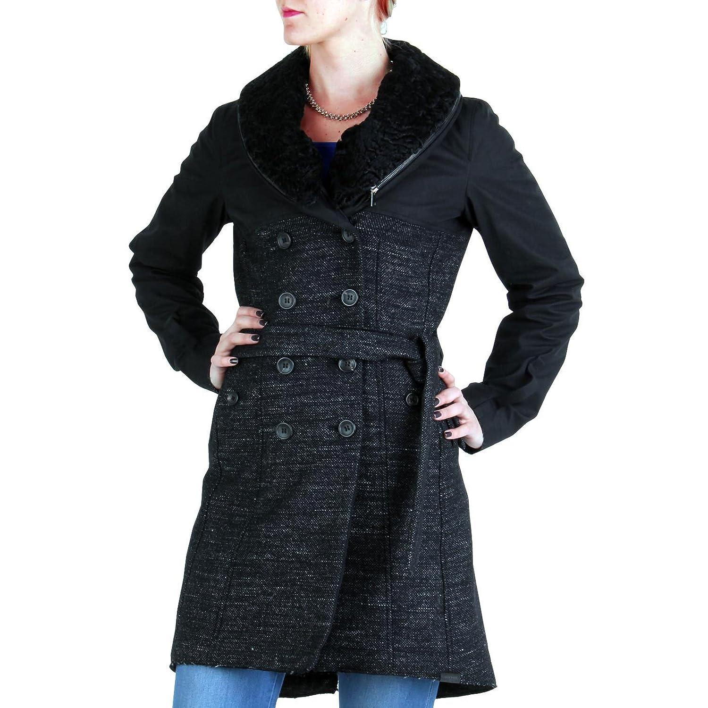 PEUTEREY AIGUILLE NOIRE Damen Mantel Receptive Schwarz AGD0004