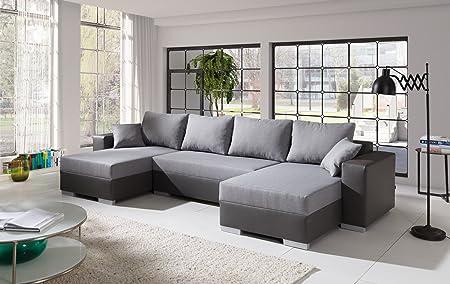 Sofa Couchgarnitur Couch Sofagarnitur TIGER 7 U Polstergarnitur Polsterecke Wohnlandschaft mit Schlaffunktion