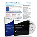 Learn Microsoft Word 2016 DELUXE Training Tutorial Package- Video Lessons, PDF Instruction Manuals, Laminated Quick Reference Guide, Testing Materials, and Certificate of Completion