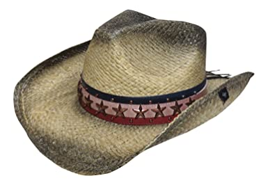 981a5d49d9f Peter Grimm Natural Black Straw Cowboy Hat Western Cowgirl Peter Grimm  Brand Natural Color Straw Cowboy Hat with Black around the Top and Edges  Copper Tone ...