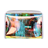 Gabrine Womens Girls Clear Transparent Rainbow Laser Hologram Cosmetic Makeup Travel Wash Bag(Clear) (Color: Clear, Tamaño: One Size)
