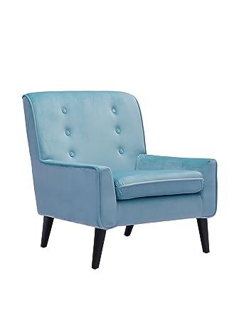 Zuo Coney Velvet Armchair in Aqua