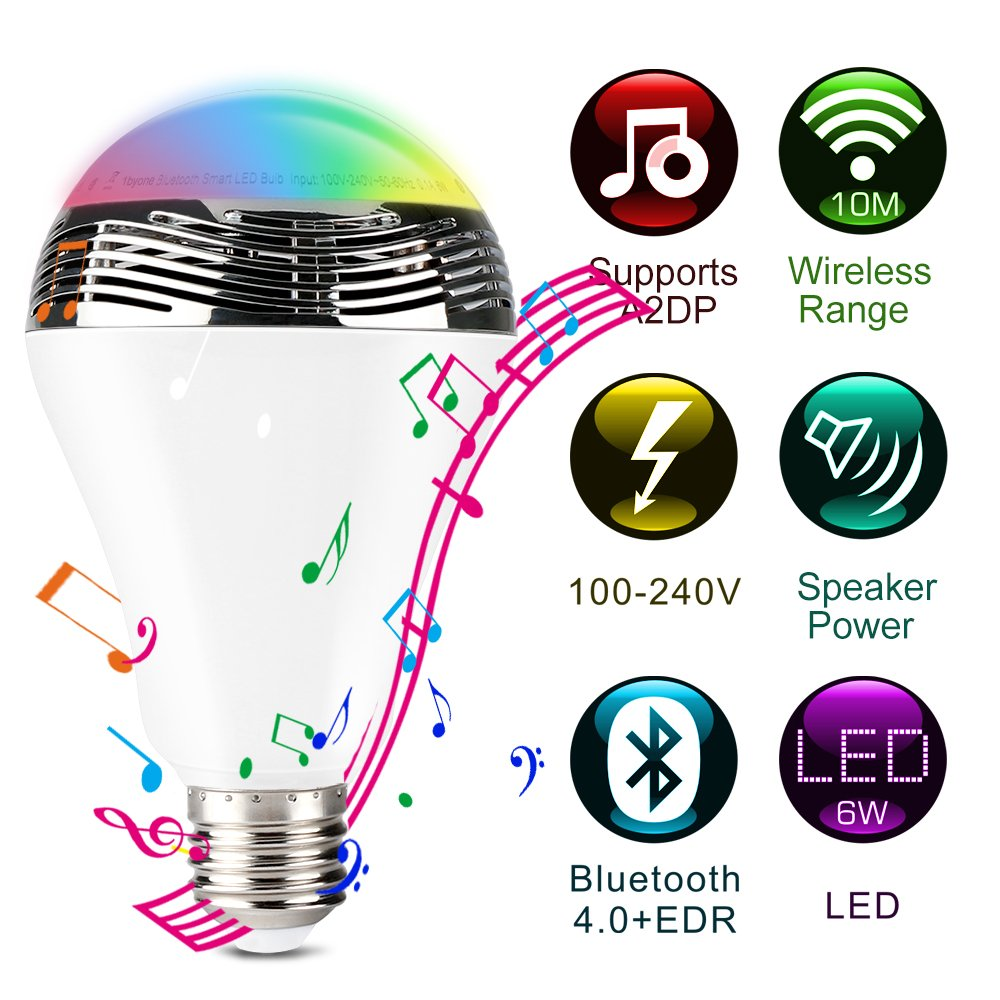 1byone Bluetooth Farb LED Lampen