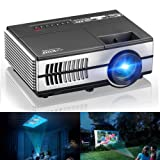 Mini Projectors, EUG Portable LCD Home Projector Multimedia HDMI USB Support HD 1080P 720P 1500 Lumen LED Proyector Laptop Games Movies Artworks with Built-in Speakers,Zoom,Keystone (Color: Mini Projector 1500 Lumens- EUG 600D)