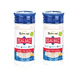 Redmond Real Sea Salt - Natural Unrefined Organic Gluten Free Fine, 10 Ounce Shaker (2 Pack) (Tamaño: 10 Ounces)