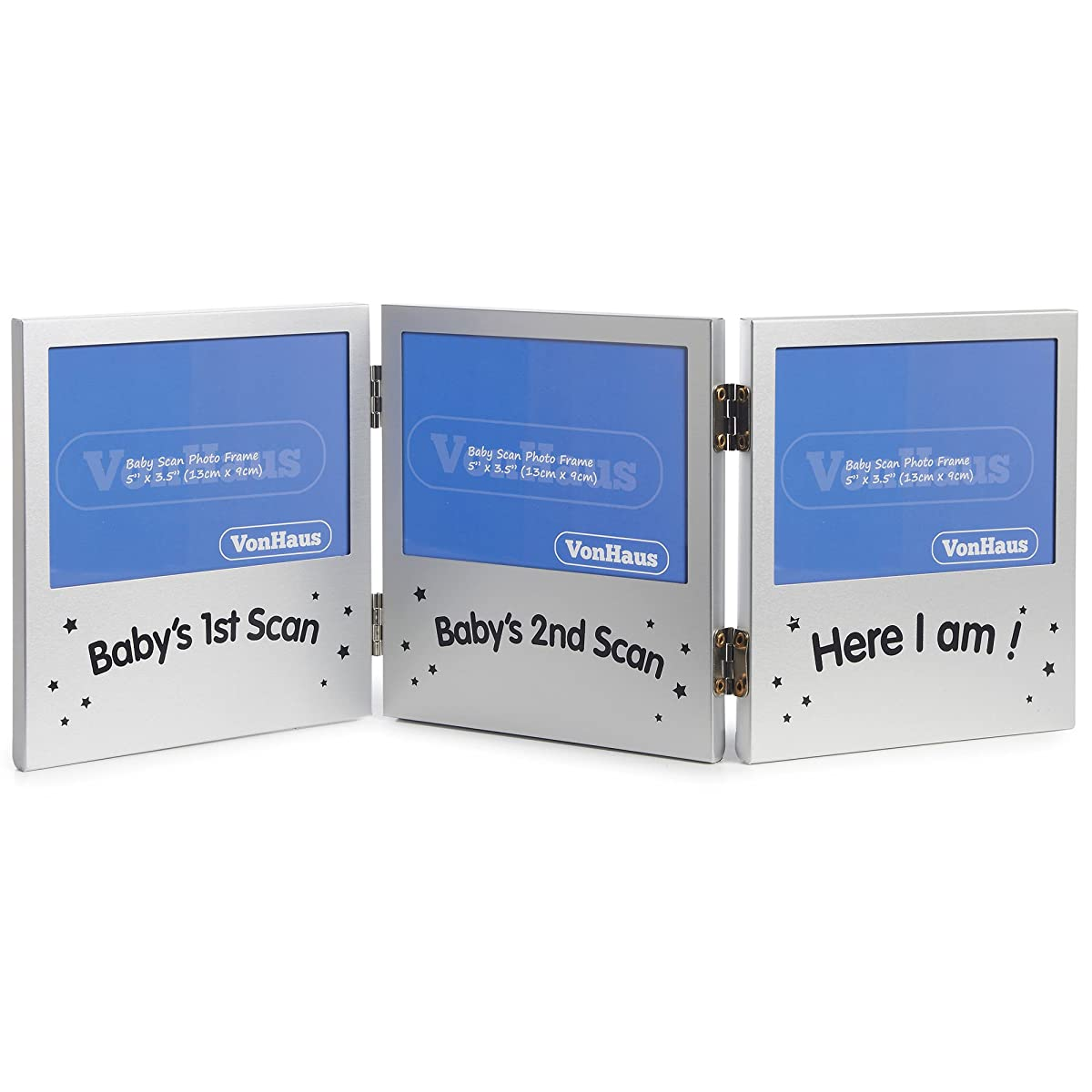 VonHaus Triple Picture Frame for Keepsake Ultrasound Sonogram ...