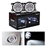 beler 2 Pack LED White Fog Light Lamp Replacement in Box for Acura Honda Ford Nissan Lincoln Jaguar Subaru Suzuki Porsche (9 LED Bulbs) (Color: 9 LED Bulbs)