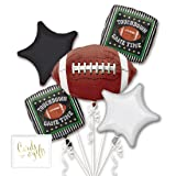 Andaz Press Balloon Bouquet Party Kit with Gold Cards & Gifts Sign, Game Time Football Bouquet Foil Mylar Balloon Decorations, 1-Set (Color: Sports Game Time Football)