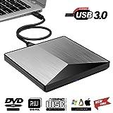 Cocopa ghagsj External DVD Drive Kilineo USB 3.0 CD Burner Reader 100% New Core External Optical Drives Black (Color: Black, Tamaño: 5.85 x 5.85 x 0.7 inches)
