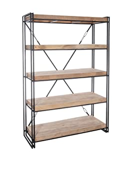 Libreria scaffale, libreria leonard-natural black-wood/Metallo 53210 venduto [divano in linea