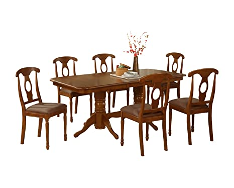 East West Furniture NANA5-SBR-C 5-Piece Dining Table Set