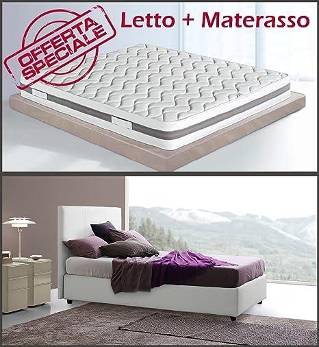 Promozione Golden Relax Sararreda: Letto contenitore Gemma una Piazza e Mezzo con Materasso Waterfoam, guanciali e coprimaterasso - Made in Italy